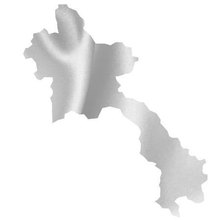 laos: Laos map Silk Illustration