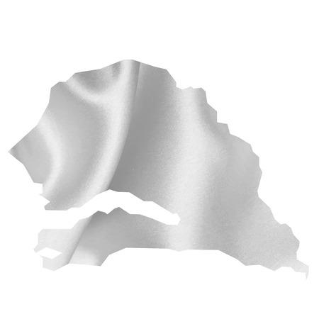 senegal: Senegal map Silk