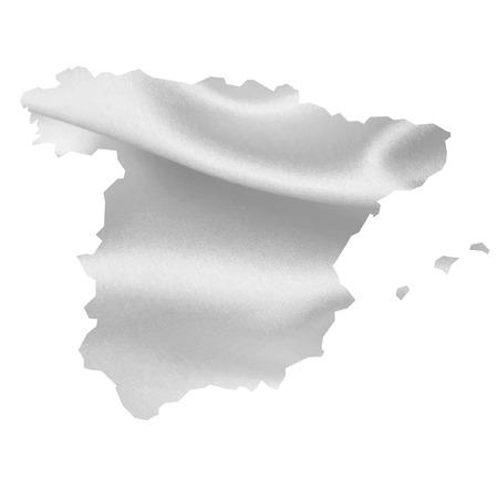 spain map: Spagna Mappa Seta Vettoriali