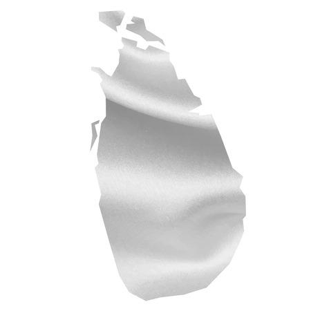 スリランカ地図シルク