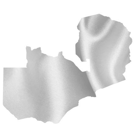 zambia: Zambia map Silk