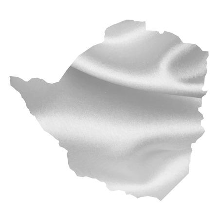 zimbabwe: Zimbabwe mapa de la Seda Vectores