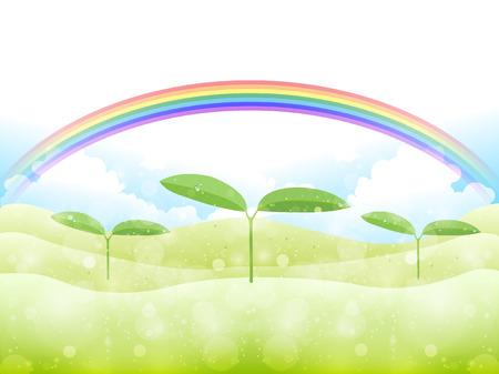 aoba: Leaf bud background Illustration