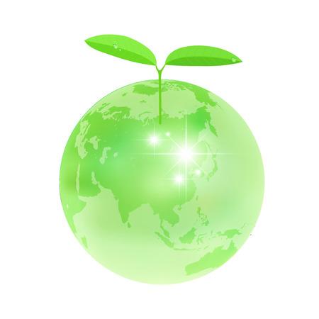 地球エコを葉します。