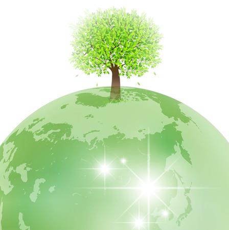 地球エコを木します。