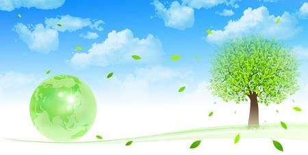 Tree Earth eco Vector