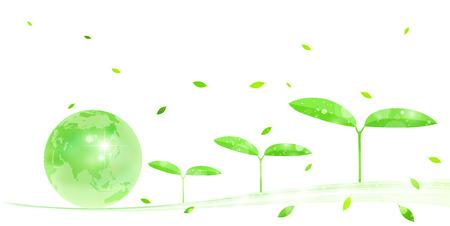 地球エコを木します。 写真素材 - 37835591