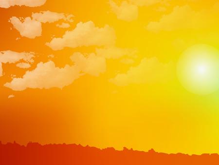 Sky sunset background Illustration