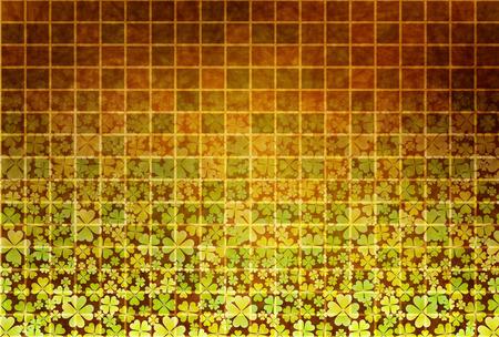 クローバーの葉新緑  イラスト・ベクター素材