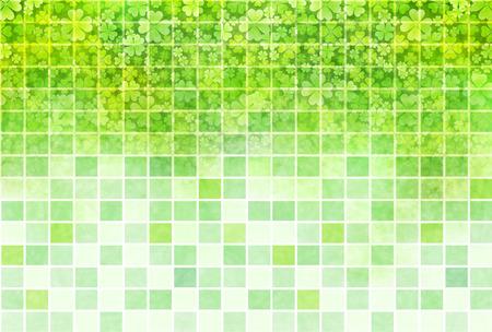 young leaf: Clover leaf fresh green
