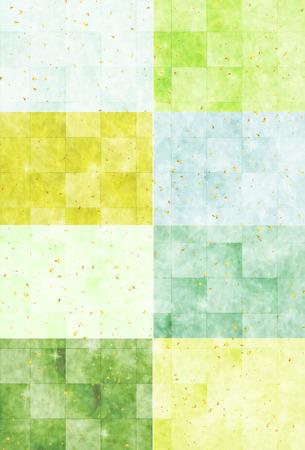 Fresh green Japanese paper background Illustration