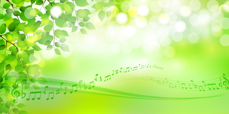 Leaf fresh green background Stock Illustratie