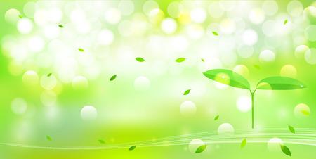 葉の新鮮な緑の背景の説明: 葉の新鮮な緑の背景  イラスト・ベクター素材