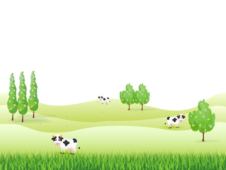 Ranch cattle background Vector
