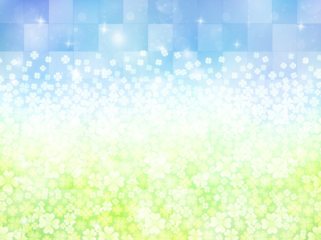 young leaf: Grass clover background