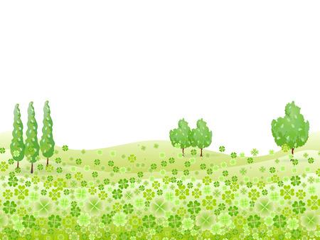 草クローバー背景