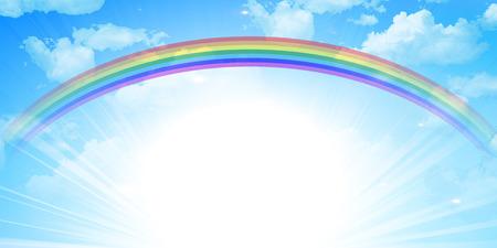 Sky rainbow background Vettoriali