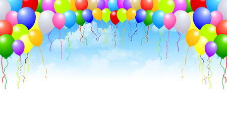 Sky balloons background Stock Illustratie