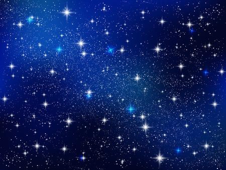Kosmische achtergrond van de nachthemel Stock Illustratie