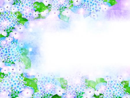 Hydrangea rainy season background Vector