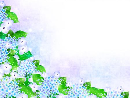 Hydrangea rainy season background Ilustração