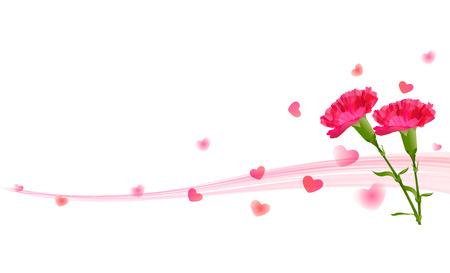 Carnation Mother \\ \'s Day background Illustration