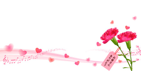 Carnation Mother \ s Day background