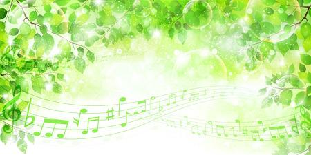 aoba: Leaf note background