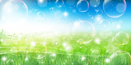 grass sky: Grass sky background