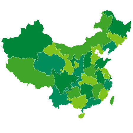 China map country Stock Illustratie