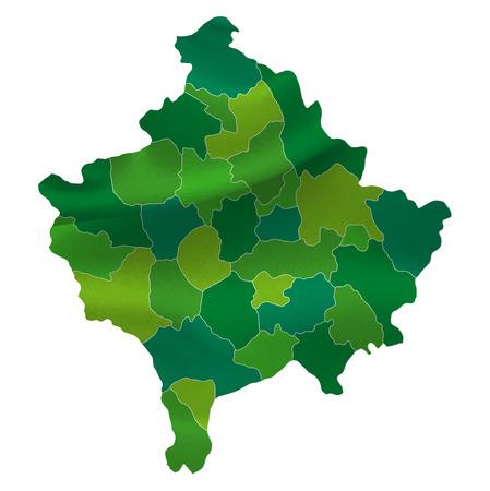 kosovo: Kosovo map country