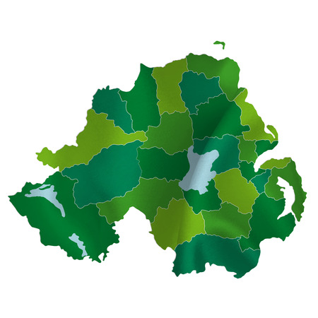 northern ireland: Northern Ireland map country Illustration