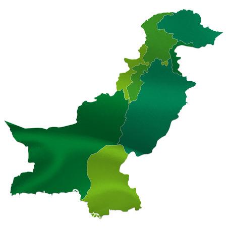 Pakistan: Pakistan map country Illustration