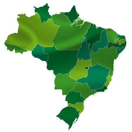 Brazil map countries Vector