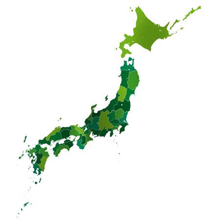 Japon Japon Carte Banque d'images - 38292512