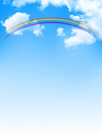 Sky rainbow background Illustration