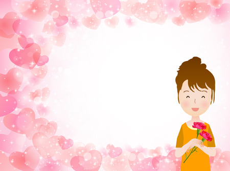 carnation: Carnation background Mother  's Day Illustration
