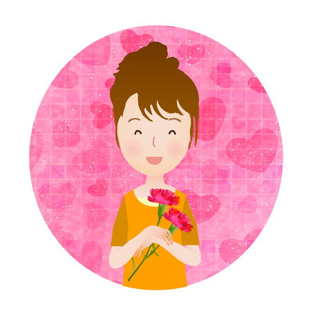 carnation: Carnation icon Mother  's Day Illustration
