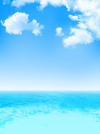 sea sky: Sea sky background Illustration