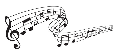 Note music icon Vectores