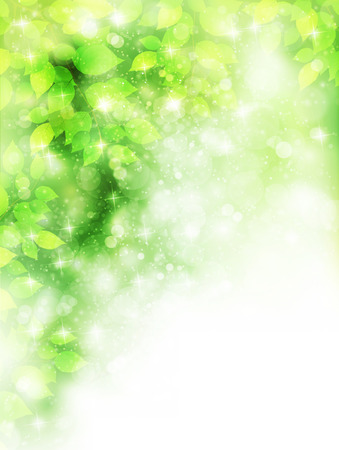 green background: Leaf fresh green background Illustration