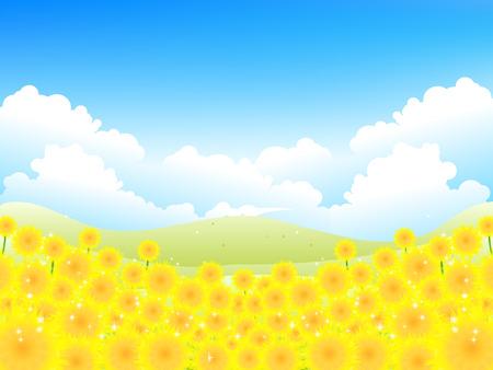 ひまわりの空の背景