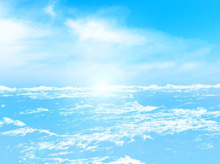 Sea sky background 向量圖像