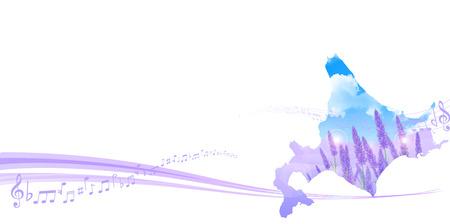 hokkaido: Lavender Hokkaido background