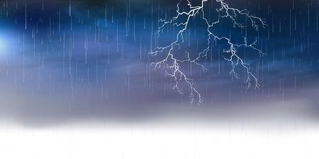 lightnings: Thunder rain background