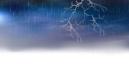 rain background: Thunder rain background