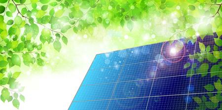 solar cells: Solar fresh green background Illustration