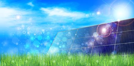 energia solar: Solar fondo solar Vectores