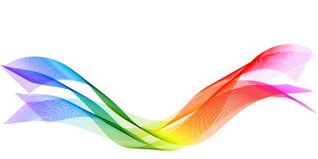 Rainbow curve wave Illustration