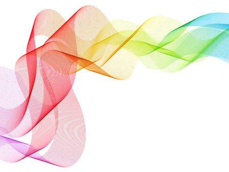 虹色鮮やかな曲線